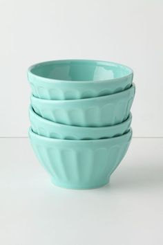 Latte Bowls - anthropologie.com--love these in the seafoam and mustard!!