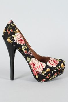 Floral Pumps, $26.50. I adore these... I'd pair them with light-wash skinnies and a rose colored button-up blouse