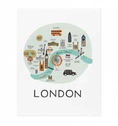 Rifle Paper Co. - London - Illustrated Art Print