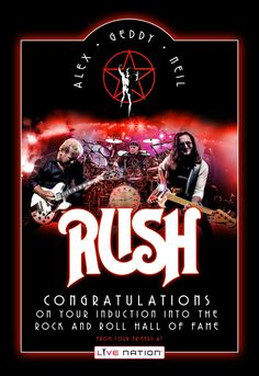 #Rush #RockNRoll #HallofFame Catch them on Tour. Click to get tix
