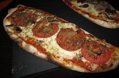Cheese and tomato pizza baguette Pepperoni, Baguette, Cheese, Drink, Food, Pizza, Beverage, Essen, Meals