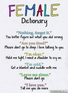 The female dictionary