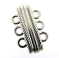 Magnetic Clasp 3-strand 27x17x7mm Platinum / Silver Color Beads Direct USA http://www.amazon.com/dp/B00VC4OPAY/ref=cm_sw_r_pi_dp_1wTdwb03JAFDQ