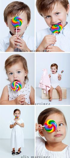 Kids Studio photography, lollipop love : )