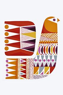 Sanna Annukka is a designer and printmaker. Her distinctive style of bold colour and pattern is influenced by her childhood summers spent in northern Finland. Her memories of camping in the nightless Lapland wilderness, the forests, lakes and wildlife remain a constant inspiration.