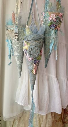 Shabby Romantic Paris Blues Lace  glittered by LonelyHeartCowgirl - Etsy