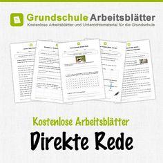 Kostenlose Arbeitsblätter und Unterrichtsmaterial für den Deutsch-Unterricht zum Thema Direkte Rede in der Grundschule.