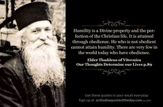 Elder Thaddeus of Vitovnica. Our Thoughts Determine Our Lives.