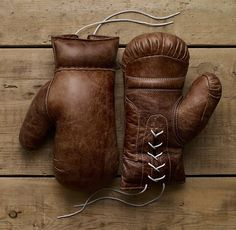 Vintage Leather Boxing Gloves – $99
