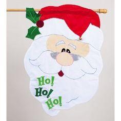 Garden Flag Ho Ho Ho Santa