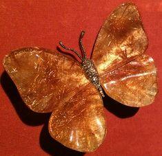 Rutilated Quartz Butterfly Brooch by JAR, quartz, diamond, silver, gold, 2008. Photo by Cheryl Kremkow.