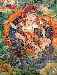 "tricycle-tumbles: "" In this week's installment of Himalayan Buddhist Art Jeff Watt explains the ubiquitous yet mysterious figure of Tara. Buddhist Symbols, Buddhist Art, Tibetan Art, Tibetan Buddhism, Vajrayana Buddhism, Thangka Painting, Oriental, Deities, Celestial"
