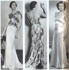 30's fashion for women | but 30 s dresses were for proper women they re frequently bias cut ...