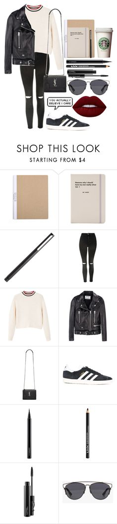 """New York winter ☹️"" by arianas12 ❤ liked on Polyvore featuring Jac Vanek, Topshop, MANGO, Acne Studios, Yves Saint Laurent, adidas Originals, MAC Cosmetics, NYX, Christian Dior and Lime Crime"