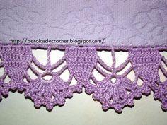 * Pérolas do Crochet: Barradinhos de crochet e AUSÊNCIA