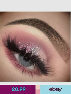 glitter ideas pink eyes make blue for up Pink glitter eyes make up ideas for blue eyesYou can find Pink eye makeup and more on our website Prom Eye Makeup, Makeup Eye Looks, Eye Makeup Art, Pink Makeup, Cute Makeup, Glam Makeup, Makeup Inspo, Eyeshadow Makeup, Hooded Eye Makeup