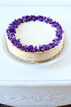 Every Cake You Bake -  violet cheesecake