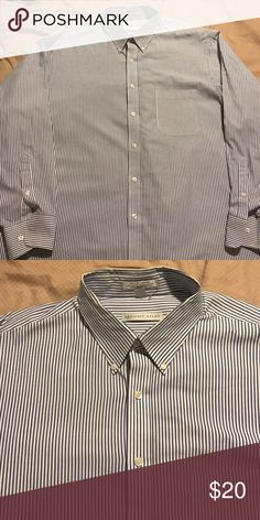 Men's dress shirt Men's dress shirt, navy blue & white. Worn once Geoffrey Beene Shirts Dress Shirts