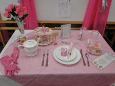 Girls learned how to set a table and tea etiquette...