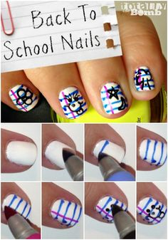 {Totally Retro} Back To School Nail Art - Totally The Bomb.com