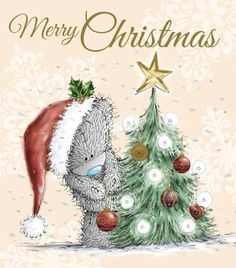 Tatty Teddy Decorating Tree Me to You Bear Christmas Card Noel Christmas, Christmas Clipart, Christmas Wishes, Christmas Pictures, Christmas Greetings, Winter Christmas, Vintage Christmas, Christmas Crafts, Christmas Decorations