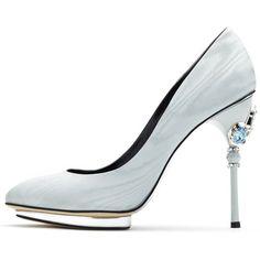 Oscar de la Renta French Blue Crystal-Detail Faille Colette Platforms ($545) ❤ liked on Polyvore featuring shoes, pumps, heels, platform shoes, blue heeled shoes, blue pumps, platform pumps and blue high heel shoes