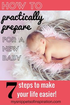 These tips will help you PRACTICALLY prepare for your new baby with reasonable expectations!