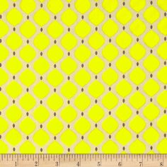 Bright Now Drops Yellow Fabric