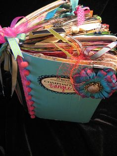 Junque Journal  by Tangie. I love this Idea! Can't wait to start creating!