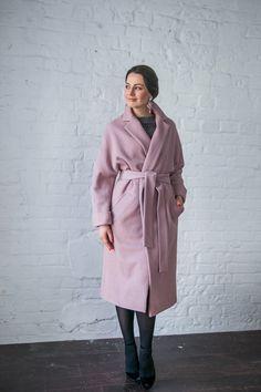 Пальто с поясом (удлинённое)