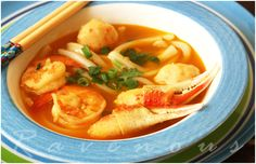 Vietnamese Udon - Banh Canh Cua - with shrimp and crab fingers