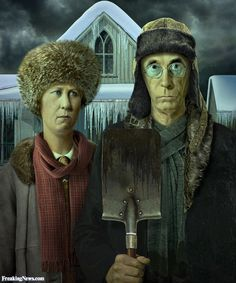 American Gothic in Winter                                                                                                                                                                                 More