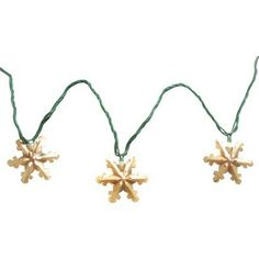 10ct Rustic Metal Snowflake String Lights