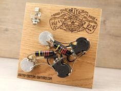 Arty's Custom Guitars Les Paul coil splitting prewired Harness Assembly Kit wiring Gibson Bumble Bee Black Beauty Audio, Gibson Les Paul, Custom Guitars, Two By Two, Bee, Black Beauty, Guitar, Circuits, Guitar Building