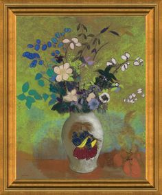 Claude Monet Still Life with Flowers and Fruit Giclee Canvas Print Paintings Pos