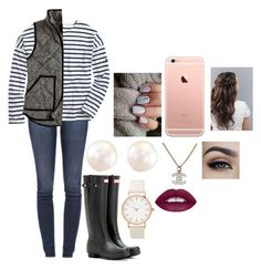 """Preppy"" by mmd32 ❤ liked on Polyvore featuring J Brand, Saint James, Hunter and Chanel"