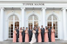 Peach-Colored Wedding Party at Tupper Manor