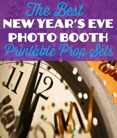 Best New Year's Eve Printable Photo Booth Props