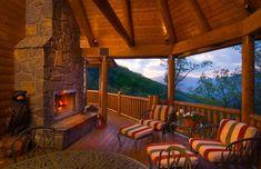 Back deck fireplace