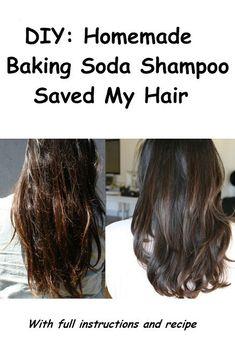 Diy healthy hair mask diy homemade baking soda shampoo saved my hair ruffled hair Baking Soda For Hair, Baking Soda Face, Baking Soda Shampoo, Diy Shampoo, Baking Soda Uses, No Shampoo Method, Homemade Shampoo And Conditioner, Baking Cups, Cake Baking