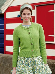 Knit this womens classic stocking stitch cardigan from the Softknit Collection, a design by Martin Storey using Softknit Cotton, a wonderful cotton drape yarn (cotton and polyamide). With round neck, deep rib bands and set in sleeves, this knitting pattern is suitable for beginners.