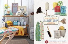 New Furniture Catalog 2014 | World Market - love this look. Want to decorate my laundry roo in or pirating some of these ideas.