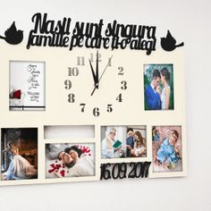Rama Foto cu Ceas Nasii sunt singura familie pe care ti-o alegi - IVI Style Photo Wall, Gallery Wall, Frame, Decor, Picture Frame, Photograph, Decoration, Decorating, Frames