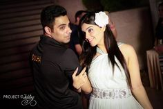 The cool DULHA and hot Dulhan ! #perfect #whiteandblack #partytime #musichigh #celebrations