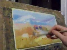 wet watercolor - another lulia Carchelan video on YouTube 8.49 mins