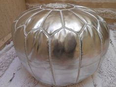 Hey, I found this really awesome Etsy listing at https://www.etsy.com/listing/188412923/silver-metallic-bonded-leather-moroccan