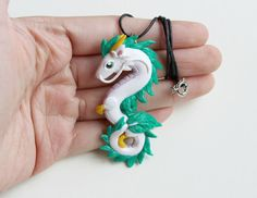Haku Dragon Necklace Polymer Clay spirited away by by ArtzieRush