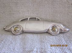 Whimsical Vintage 925 Sterling Porsche 912 Brooch by angelinabella