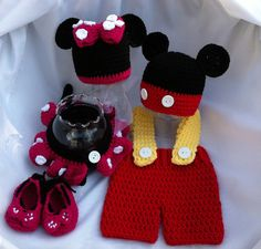 Mickey & Minnie Mouse Outfits Twin Costume by dcoycrochetsforyou, $125.00
