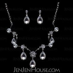 Jewelry - $16.99 - Gorgeous Alloy With Czech Rhinestones Wedding Bridal Jewelry Set,Including Necklace And Earrings(011004469) http://jenjenhouse.com/pinterest-g4469